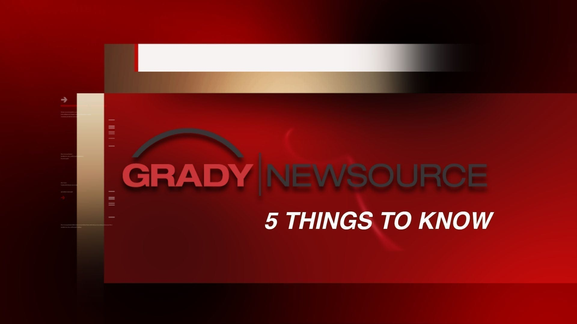 Five Things You Need To Know: October 29, 2014