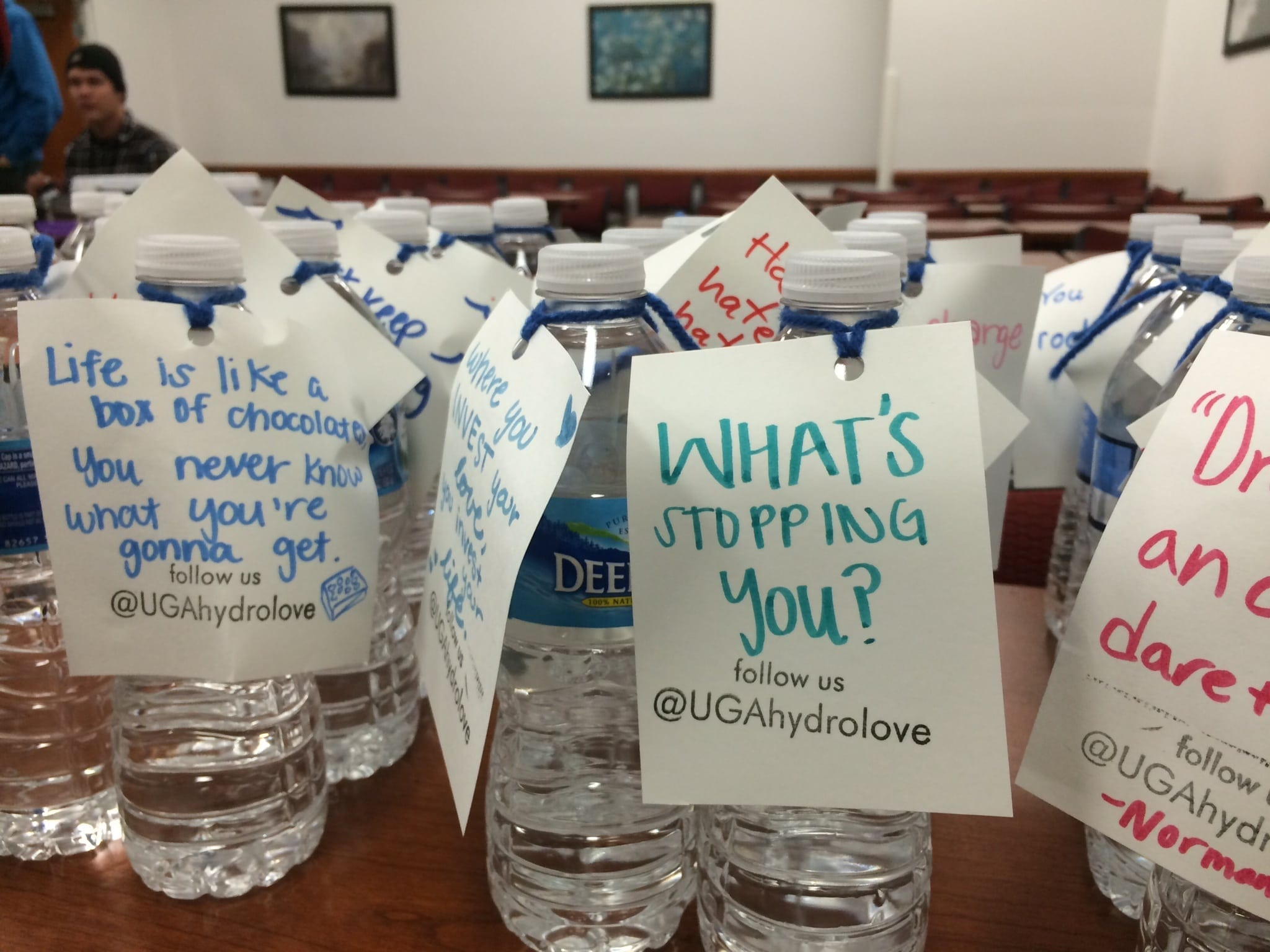 UGA Students Share Water And Love In Downtown Athens