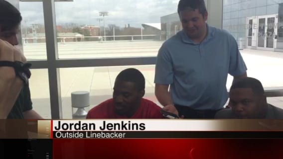 Jordan Jenkins talks about taking down Chubb and Gurley last spring