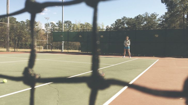 Jefferson High School tennis player trains hard, plays hard