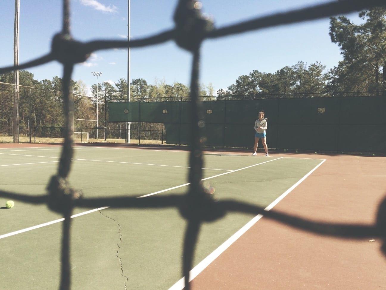 Jefferson High School tennis player trains hard, plays hard