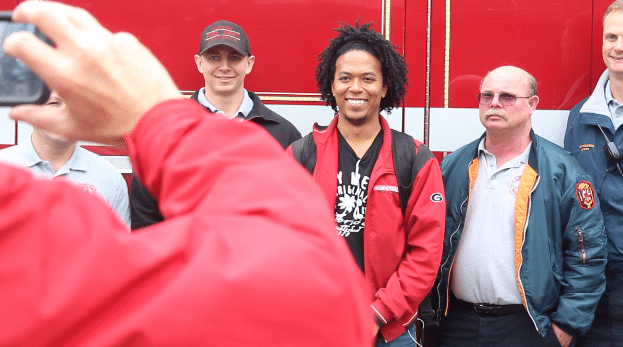 Firemen visit UGA for Emergency Preparedness Week