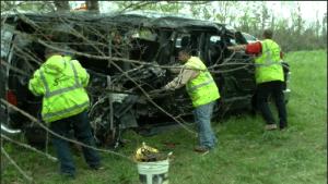 Site of Jackson County car crash