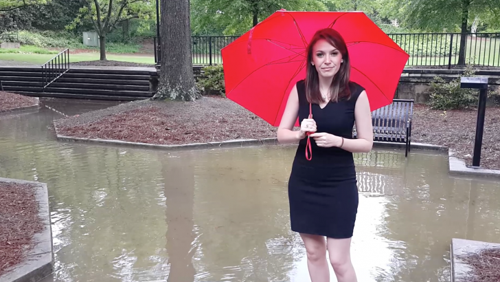 Pools of water are forming around UGA's campus