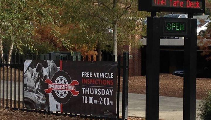 Operation Safe Drive: Free car check-ups at Tate Parking Deck