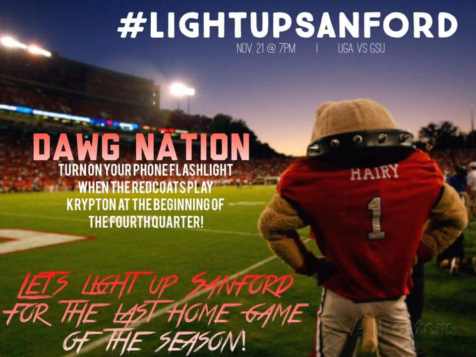 Light it up at Sanford Stadium on Saturday