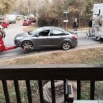 The victims car