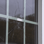 A shattered window
