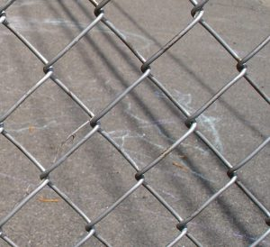 As you can see, chain link fences are thin and could easily be cut.