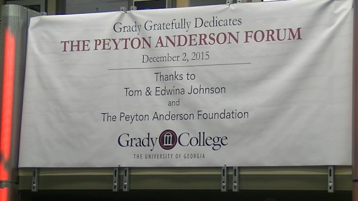 Grady hosts dedication to the Peyton Anderson Forum