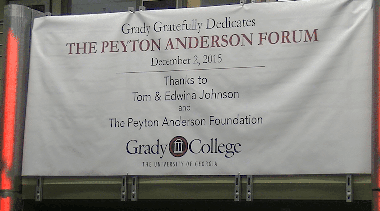 Grady hosts dedication to the Peyton Anderson Forum