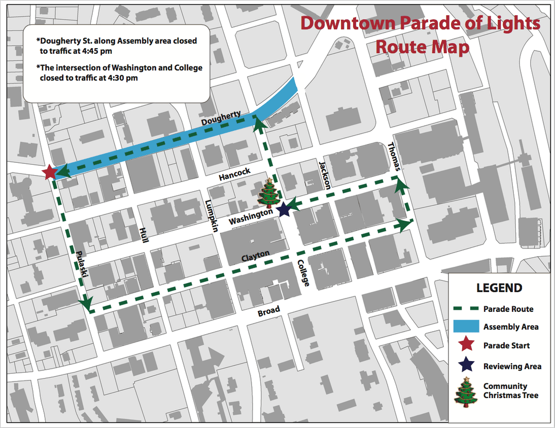 Downtown 'Parade of Lights' road closures