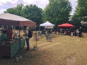 The market will last today from 12 - 3 on Herty Field.