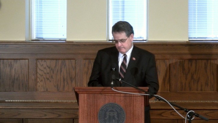 FULL VIDEO: President Morehead speaks on 4 UGA students' deaths