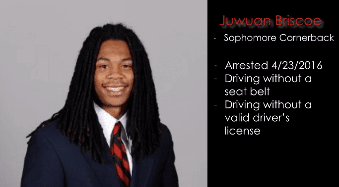 UGA Football player arrested for driving without a license
