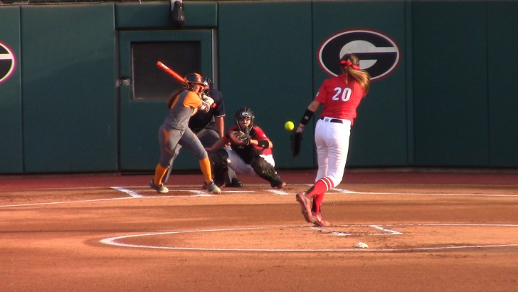 UGA Softball Win over Tennessee 6-2