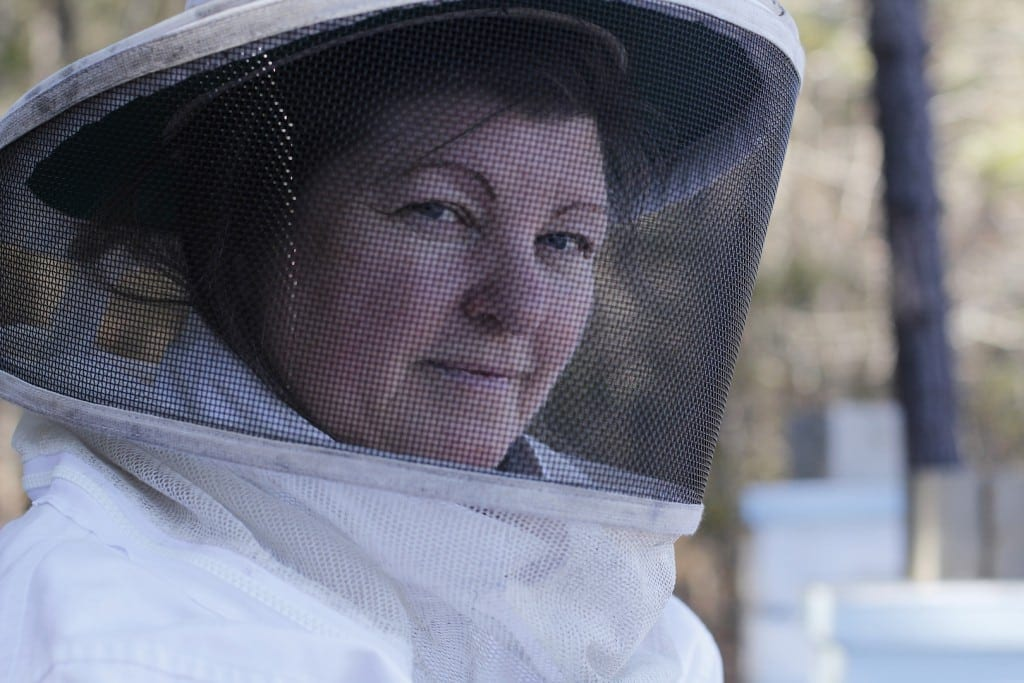 Jenny Eckman, 56, an electrical engineer from Harris County, Georgia poses for a portrait on her farm in Harris County, Georgia, on Saturday, February 27, 2016. Harris learned how to raise bees after her husband bought her two hives and a beekeeping class. Eckman: 706-464-7228
