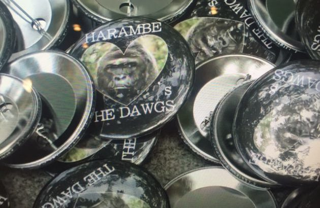 Harambe Game Day Buttons