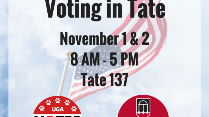 Early Voting At UGA Starts Tuesday