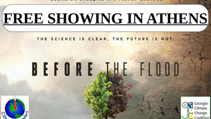 "UGA Early Screening of ""Before The Flood"""