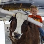 Karson Underwood, 5, a kindergarten student from Warner Robins, Georgia, rides the mechanical bull on Saturday, October 8, 2016, at the Georgia National Fair, in Perry, Georgia. Underwood and his family travelled from Warner Robins to enjoy the fair on Saturday. (Photo/Ansley Walker, eawalker@uga.edu)