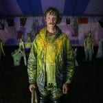 Matthew McKeown, 23, of Boston, Massachussetts, who has been working with the fair for three years now, runs the paintball court where you shoot manaqueins and zombie posters at the Georgia National Fair in Perry, Georgia, on October 8, 2016. McKeown has owned his Carhartt jacket for just over a year and uses it at every event, and has just took a picture and sent it to Carhartt to try and get a new jacket. (Photo/Henry Taylor/henrytaylorphoto@gmail.com)
