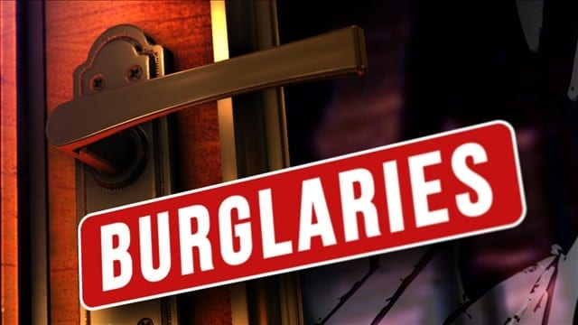 Police concerned about rash of daytime burglaries