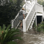Residents of Saint Simons Island, GA saw flood waters rise to around three feet in certain areas. (Photo courtesy of Luke Fucetola)