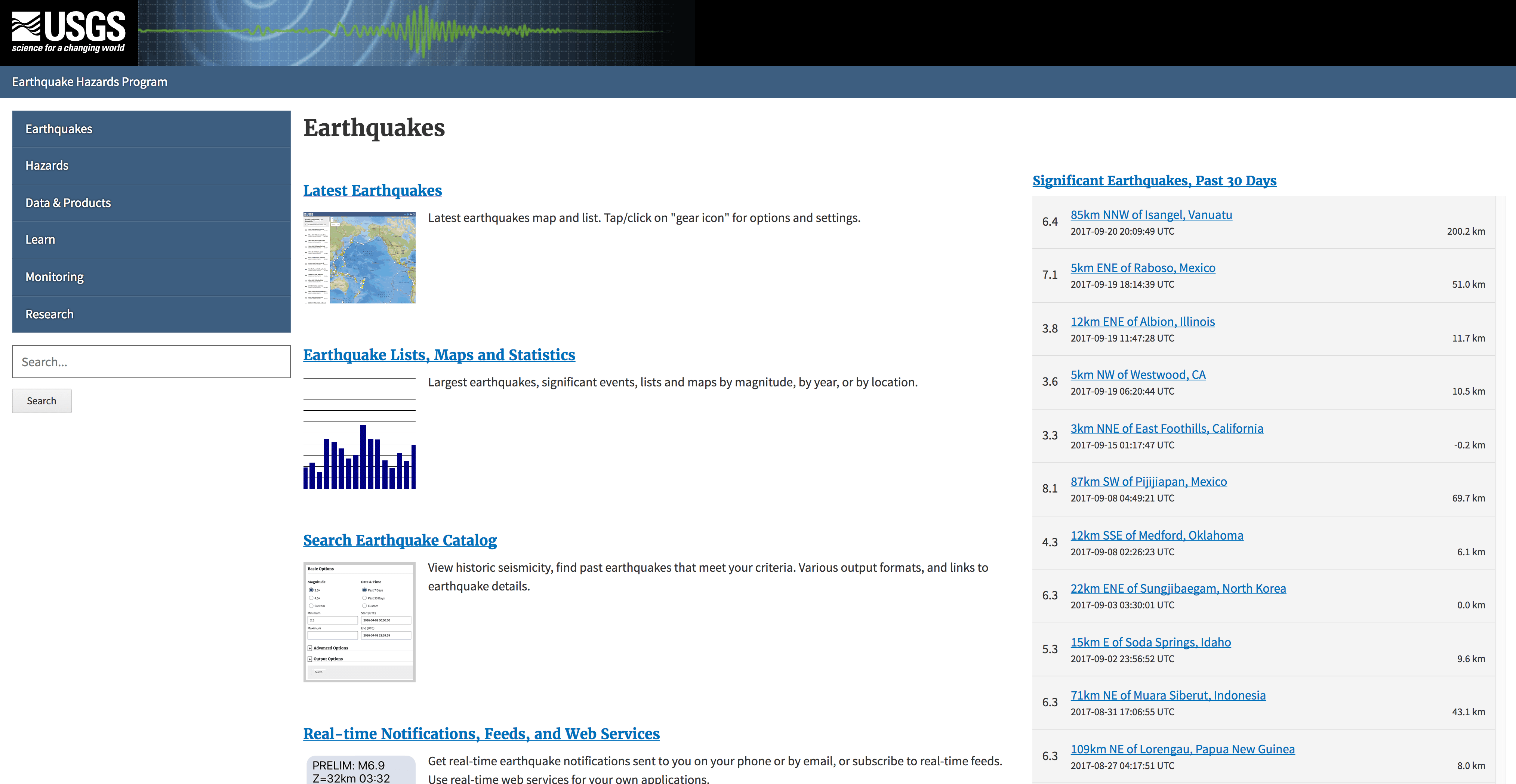 Go to https://earthquake.usgs.gov/earthquakes/ to find interactive maps and more information about the potential for earthquakes in your area.