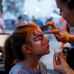 Press Pope, 6, has her face painted at the Georgia National Fair in Perry, Georgia, on Saturday, October 7, 2017. (Photo/Maureen C. Sheeran)