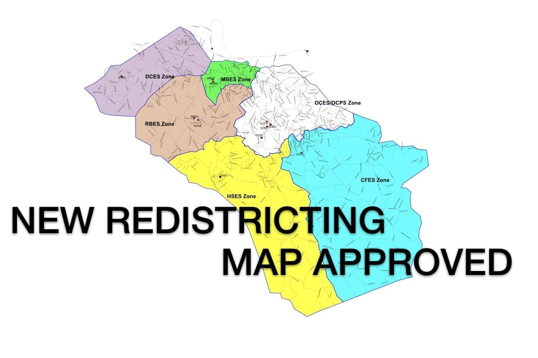 Oconee County schools approve redistricting plan