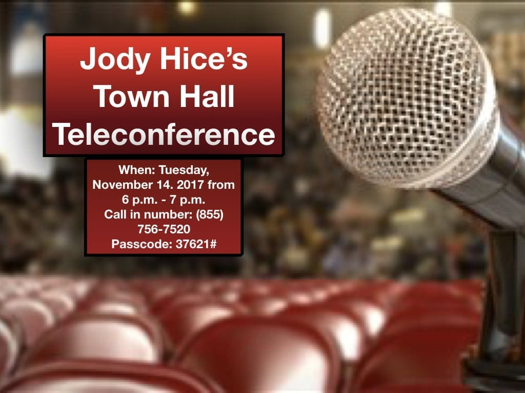 Congressman Hice holds tele-town hall