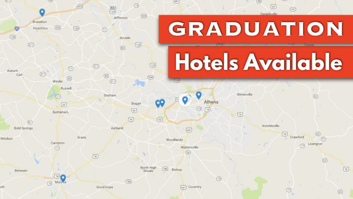 Six Hotels Remain for UGA Graduation