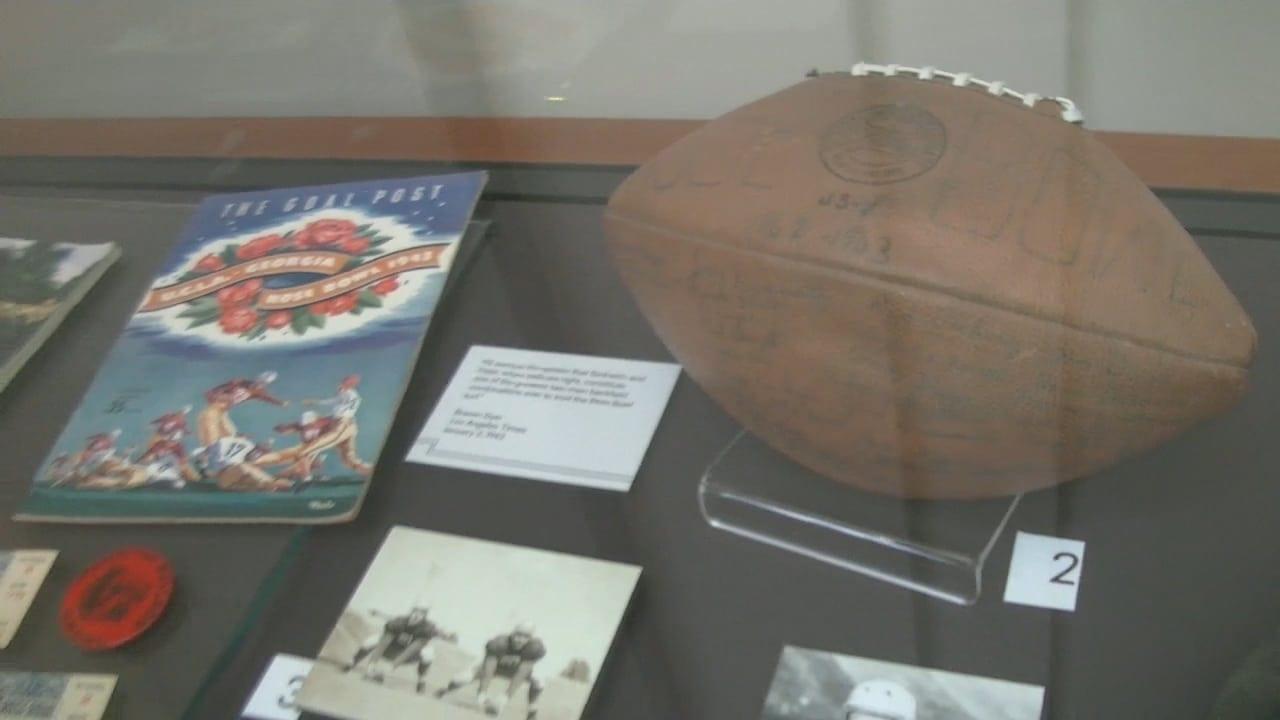 Sneak Peek at Historic Football Exhibit