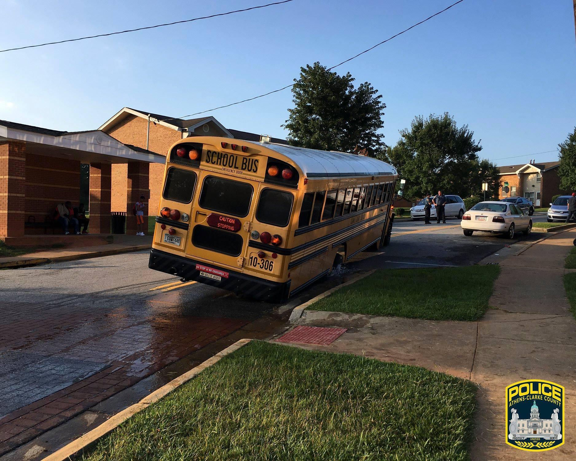 Sinkhole Stops Cedar Shoals HS Bus