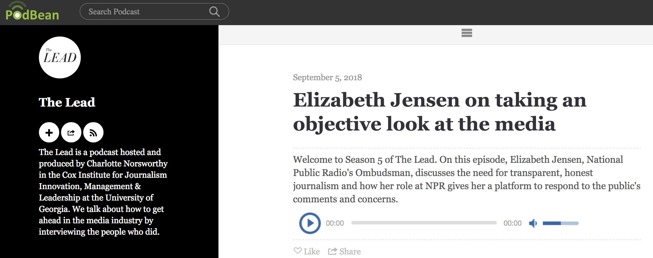 The Lead: Elizabeth Jensen on Taking an Objective Look at the Media