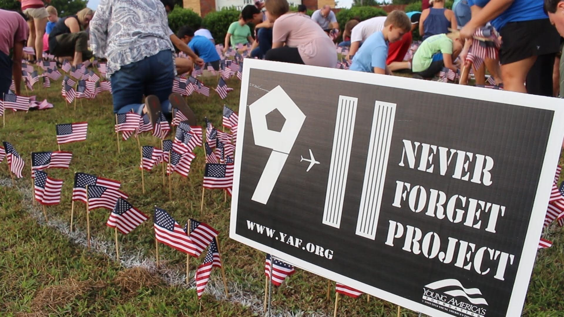 Oconee County Remembers 9/11 with Flag Display