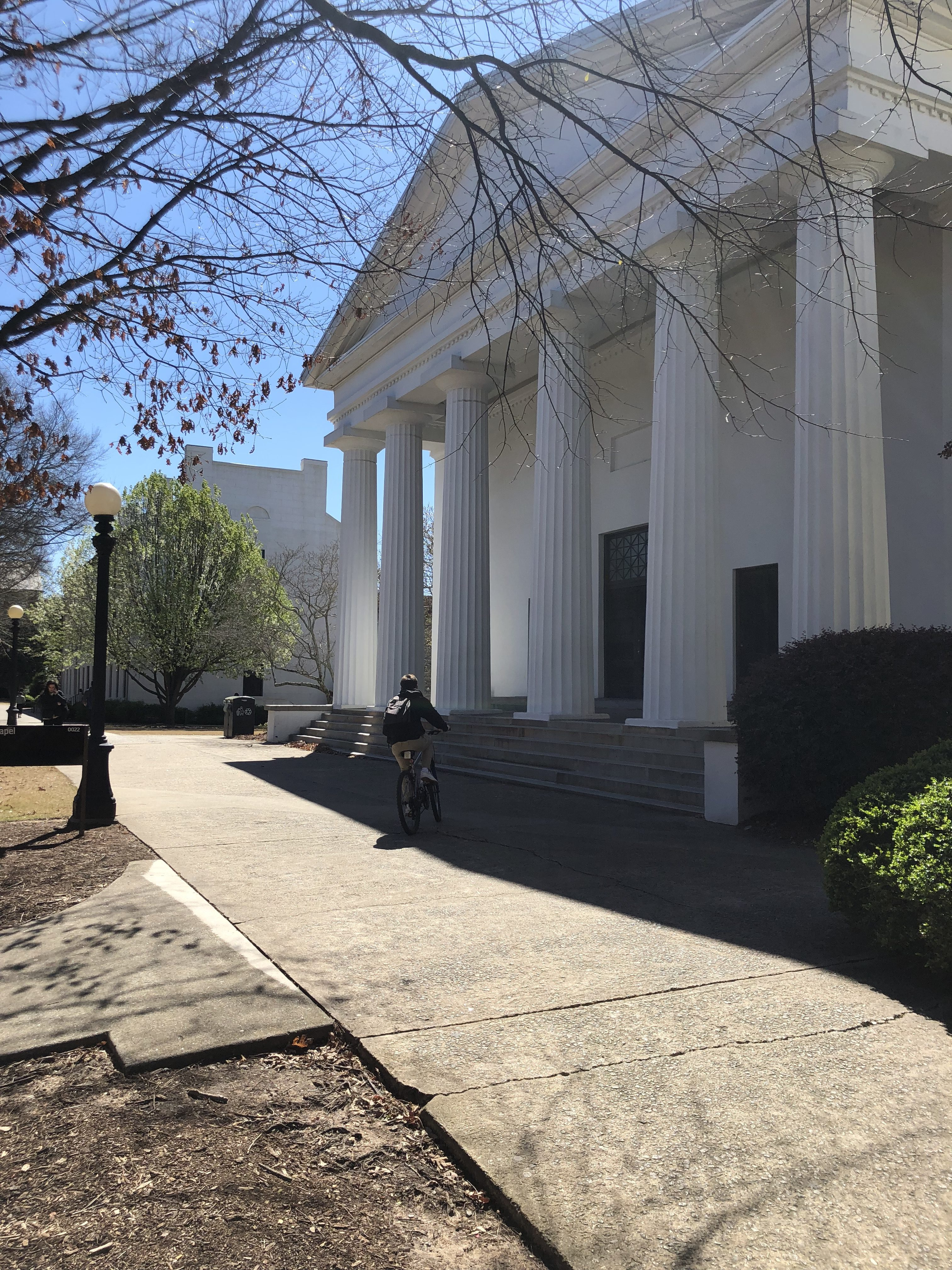UGA's historic chapel, the site where a new memorial will be placed.